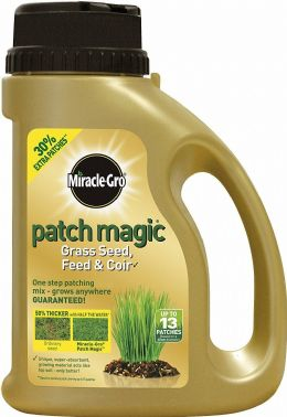 Miracle Gro Patch Magic Grow Grass Seed Patching Feed and Coir 1015g Shaker Jar